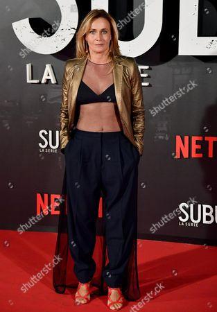 Italian actress Lucia Mascino poses for the Italian premiere of ''Suburra La Serie'' in Rome, Italy, 04 October 2017.
