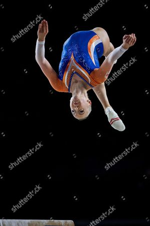 Lieke Wevers of Netherlands competes in the Women's Balance Beam at the FIG Artistic Gymnastics World Championships in Montreal, Canada 04 October 2017.