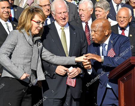 Editorial picture of House and Senate Democrats call for Gun Safety Legislation, Washington DC, USA - 04 Oct 2017