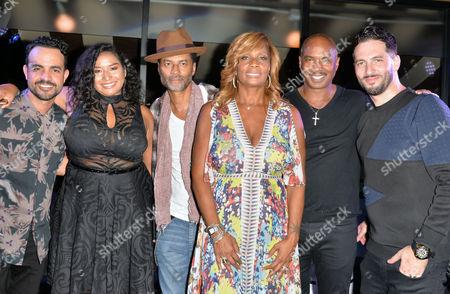 Stock Image of Jean Rodriguez, Kelli Sae, Eric Benet, Vivian Scott-Chew, Ray Chew, Jon B