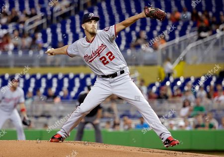 A. J. Cole. Washington Nationals starting pitcher A.J. Cole delivers during the first inning of a baseball game against the Miami Marlins, in Miami