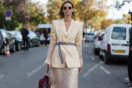Editorial picture of Street Style, Spring Summer 2018, Paris Fashion Week, France - 03 Oct 2017