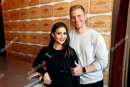 "Sean Lowe, Catherine Lowe. Sean and Catherine Lowe of ""The Bachelor"" celebrate the launch of the new Bertolli Rustic Cut Pasta Sauces at Gramercy Terrace on in New York"