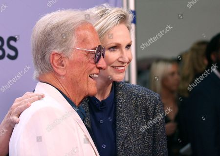 "Pat Boone, Jane Lynch. Pat Boone, left, and Jane Lynch arrive at the ""The Carol Burnett 50th Anniversary Special"" at the CBS Television City, in Los Angeles"