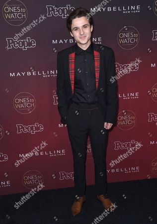 """Stock Image of Dylan Schmid arrives at the 5th annual People Magazine """"Ones To Watch"""" party at NeueHouse Hollywood, in Los Angeles"""