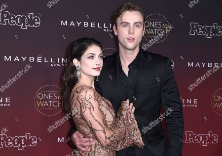 """Niki Koss, Sterling Beaumon. Niki Koss, left, and Sterling Beaumon arrive at the 5th annual People Magazine """"Ones To Watch"""" party at NeueHouse Hollywood, in Los Angeles"""