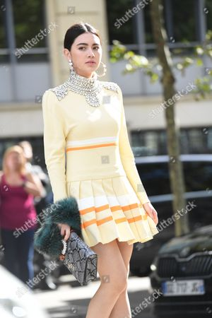Editorial photo of Street Style, Spring Summer 2018, Paris Fashion Week, France - 03 Oct 2017