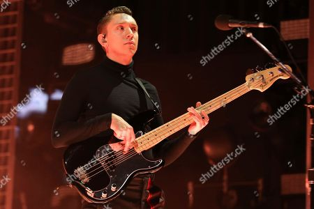 Artist Oliver Sim of the xx performs at Ascend Amphitheater, in Nashville, Tenn
