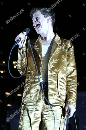 Artist Mike Hadreas of Perfume Genius performs at Ascend Amphitheater on in Nashville, Tenn