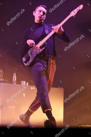 Artist Oliver Sim of the xx performs at Ascend Amphitheater on in Nashville, Tenn