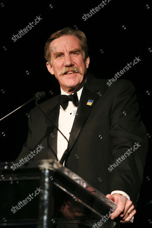 Nick Wyman, President Actors' Equity speaks during the Actors' Equity 100th Anniversary Gala at the Loews Hollywood Hotel, in Los Angeles, Calif