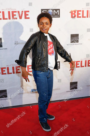 "Issac Ryan Brown arrives at the premiere of ""Believe"" at Regal Cinemas Hollywood 27, in Nashville, Tenn"