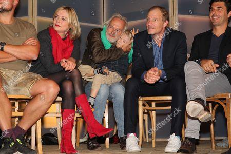 Saskia Valencia, Siemen Ruehaak with son Giacomo, Thorsten Nindel