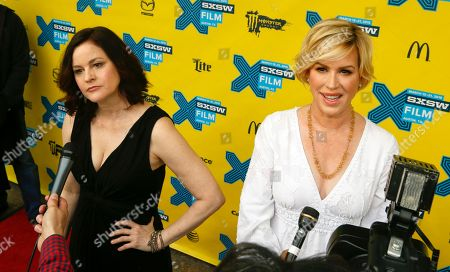 """Stock Picture of Molly Ringwald, right, and Ally Sheedy talk to the media on the red carpet for """"The Breakfast Club"""" 30th Anniversary Restoration World Premiere during the South by Southwest Film Festival on in Austin, Texas"""