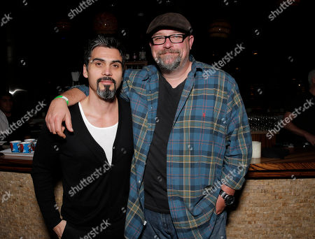 Stock Photo of Joey Figueroa and Zak Knutson attend the EPIX Screening of Schooled: The Price of College Sports Presented by the IDA at Landmark Theater on in Los Angeles