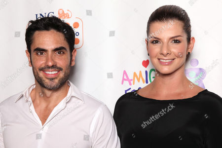 Lincoln Palomeque and Carolina Cruz arrive at the Amigos For Kids ING Miami Celebrity Domino Night! on Saturday, June, 15, 2013 at Jungle Island in Miami, Fl