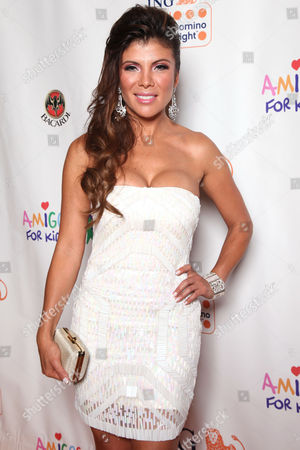 Mirella Grisales arrives at the Amigos For Kids ING Miami Celebrity Domino Night! on Saturday, June, 15, 2013 at Jungle Island in Miami, Fl