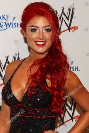 WWE Superstar Natalie Marie Nelson (AKA Eva Marie) arrives at the Superstars of Hope honors Make A Wish Foundation event at The Beverly Hills Hotel on in Beverly Hills, Calif