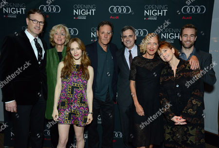 """Ken Novice, Maria Aitken, Jaime Ray Newman, Chris Mulkey, Randall Arney, Joanna Murray-Smith, Kathy Baker and James Van Der Beek attend the opening night of """"The Gift"""" at the Geffen Playhouse on in Westwood, Calif"""