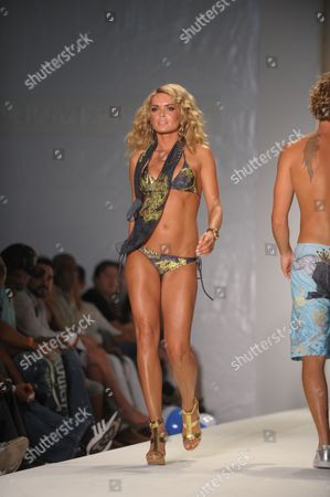 Miami Beach - July 19: Model / Tv Personality Cindy Taylor Walks the Runway at Ed Hardy Swimwear 2009 Collection Fashion Show During Mercedes-benz Fashion Week Swim at the Raleigh Hotel On July 18 2008 in Miami Florida People: Cindy Taylor United States of America Miami Beach