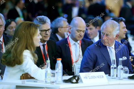 Stock Image of Prince Charles and Queen Noor