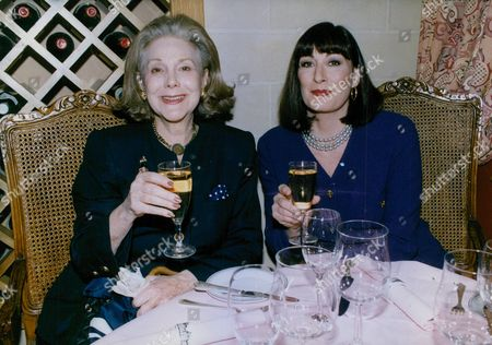 Stock Photo of Barbara Lady Colyton (nee Barbara Barb) Former Wife Of Cartoonist Charles Addams Creator Of The Addams Family With Actress Anjelica Huston Who Is Starring In Film 'the Addams Family'. Box 757 1018051738 A.jpg.