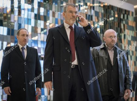 Stock Picture of Michael McElhatton, Pierce Brosnan, David Pearse