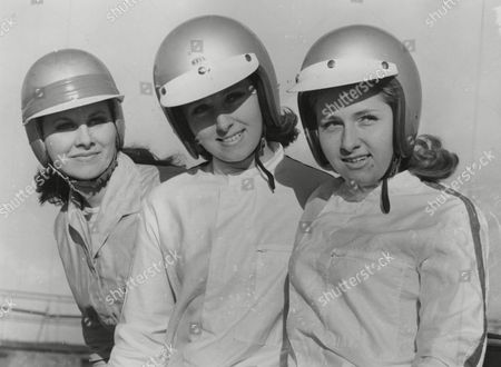 Three British Girls Who Have Formed The World's First All-women International Car Racing Team. L-r: Jacquie Smith Jackie Bond-smith And Joey Cook. Box 759 725051728 A.jpg.