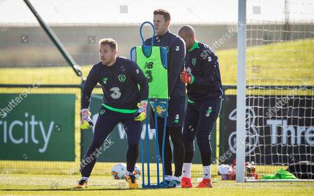Colin Doyle, Rob Elliot and Darren Randolph