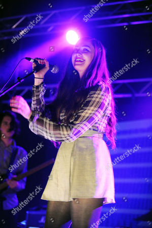 Madeline Follin of Cults performing at The Tabernacle, in Atlanta