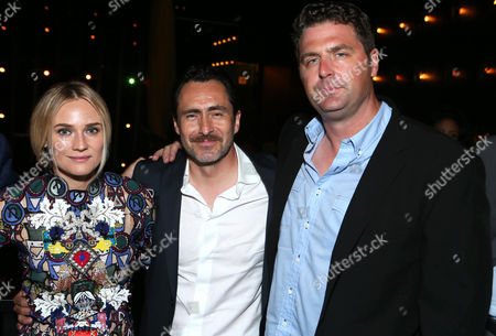 "Diane Kruger, Demian Bichir and show creator Elwood Reid at The LA Premiere Screening of ""The Bridge"" After Party at One Oak, in West Hollywood, CA"
