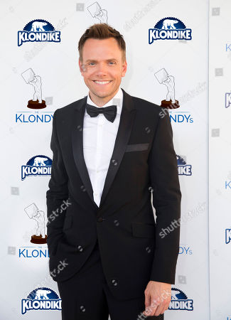 "IMAGE DISTRIBUTED FOR KLONDIKE"" Comedian and host of the Klondike Celebrity Challenge, Joel McHale, on the blue carpet at The Klondy Awards, on Thursday, September 5th, 2013 in Northridge, CA. Alfonso Ribeiro, â?˜80s pop sensation Tiffany and former professional wrestler Rowdy Roddy Piper participated in a celebration of the challenges as part of the Klondike Celebrity Challenge. View Klondy Awards coverage, as well as the challenge videos, at Facebook.com/Klondike"