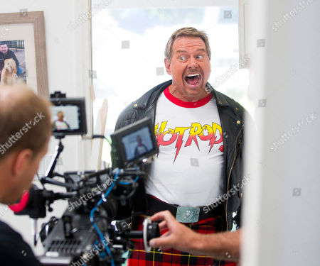 "Stock Image of In Northridge, Calif., former wrestling star Roddy ""Rowdy"" Piper films a scene for the Klondike Celebrity Challenge, a comedic contest where fans were able to determine what celebrities should do for a Klondike bar. For more information, and to watch his video challenge, visit Facebook.com/Klondike"