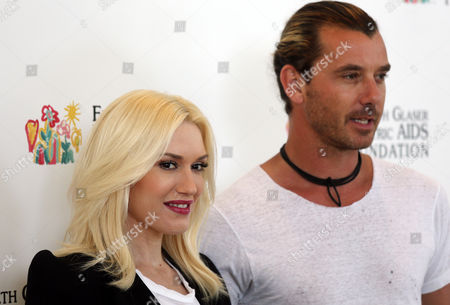 "Gwen Stefani and Gavin Rossdale arrive at Elizabeth Glaser Pediatric AIDS Foundation's 24th Annual ""A Time for Heroes"" event in Los Angeles. A rep confirmed that Stefani and Rossdale welcomed their third son, Apollo Bowie Flynn Rossdale, on"