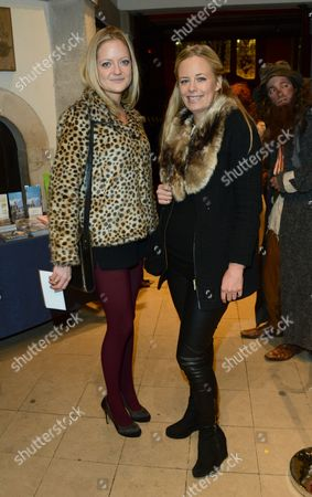 Lady Eloise Anson, left, and Astrid Harbord seen at the The Fayre of St James Charity Concert presented by the Quintessentially Foundation at St James's Church, in London