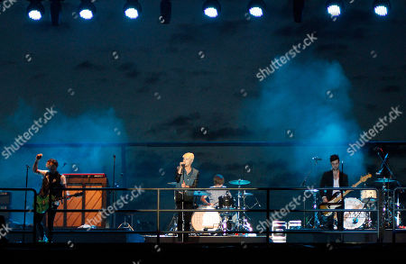 Pop rock band Hot Chelle Rae performed at the Riverbend Festival, in Chattanooga, TN