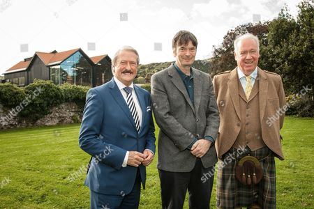 From left: Richard Patterson, 'The Nose', Master Distiller, Ian Rankin, author and whisky aficionado, Drew McKenzie Smith, Custodian of Lindores Abbey