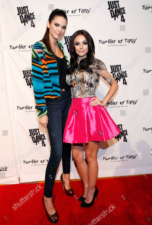 Kendall Jenner and singer Cher Lloyd are seen at the Just Dance 4 Fashion Show, in New York