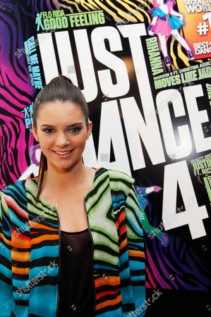 Kendall Jenner is seen at the Just Dance 4 Fashion Show, in New York