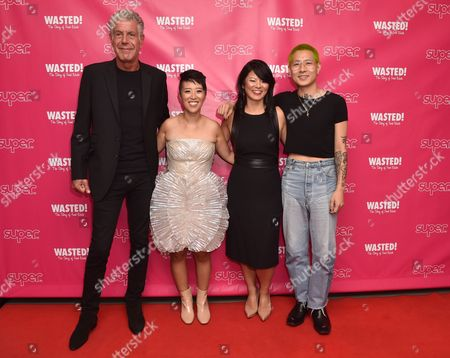 Stock Picture of Anthony Bourdain, Nari Kye, Anna Chai and Danny Bowien