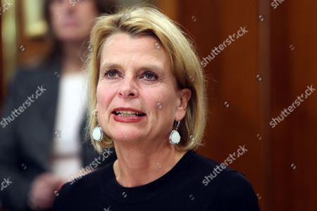 Editorial picture of Asa Regner, Minister for Gender Equality of Sweden visits Uruguay, Montevideo - 05 Oct 2017
