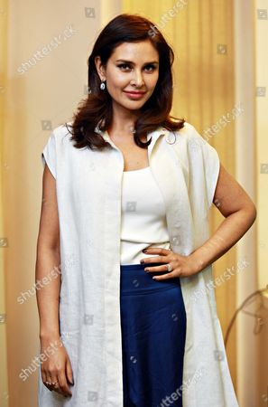 """Stock Picture of Bollywood actor Lisa Ray during a program """"Call for Action: Expanding cancer care for women in India"""", on September 21, 2017 in New Delhi, India"""