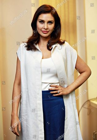 """Bollywood actor Lisa Ray during a program """"Call for Action: Expanding cancer care for women in India"""", on September 21, 2017 in New Delhi, India"""