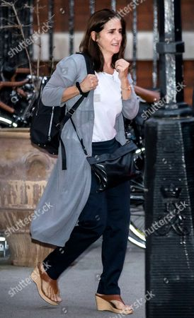 Marina Wheeler, wife of Foreign Secretary Boris Johnson,  leaves home the day after the Conservative Party conference ended.