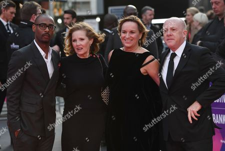 From (L-R) Producers, Charles King, Kim Roth, Sally Jo Effenson and Cassian Elwes arrive  for the premiere of 'Mudbound' on the second night of the 61st BFI London Film Festival, in London, Britain, 05 October 2017. The festival runs from 04 to 15 October.