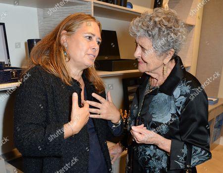 Alexandra Shulman and Joan Burstein