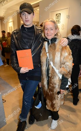 Stock Photo of Lucinda Chambers (R) with guest