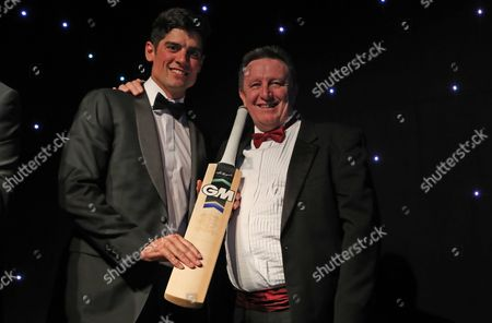 Alistair Cook collects the batsman of the year award