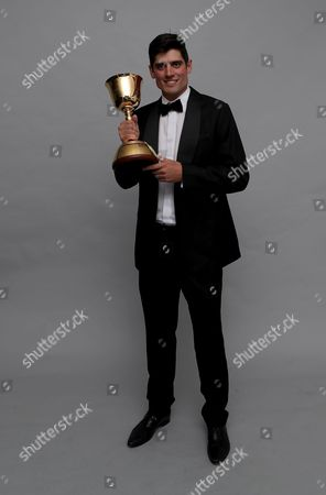 Alistair Cook proudly holds the County Championship Division 1 trophy during the Essex CCC 2017 Awards Evening at The Cloudfm County Ground on 5th October 2017