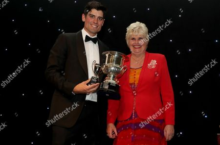 Alistair Cook receives the boundary club batsman of the year award